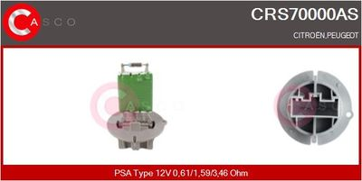CASCO Weerstand, interieurventilator (CRS70000AS)