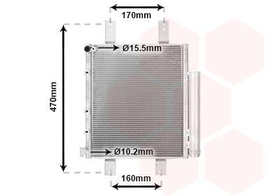 VAN WEZEL Condensor, airconditioning (11005063)