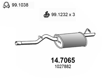 ASSO Einddemper (14.7065)