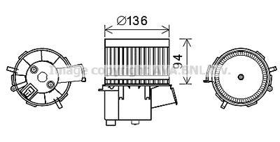 AVA QUALITY COOLING Elektrische motor, Interieurventilatie (FT8434)