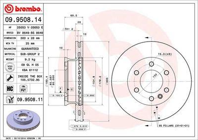 BREMBO Remschijf COATED DISC LINE (09.9508.11)
