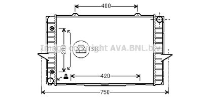 AVA QUALITY COOLING Radiateur (VO2064)