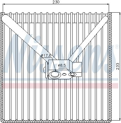 NISSENS Verdamper, airconditioning (92250)