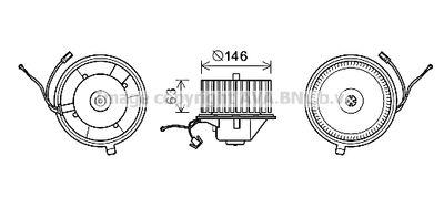 AVA QUALITY COOLING Elektrische motor, Interieurventilatie (VN8349)