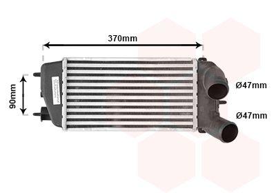 VAN WEZEL Intercooler, inlaatluchtkoeler (09004212)