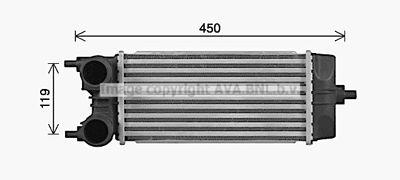 AVA QUALITY COOLING Intercooler, inlaatluchtkoeler (FD4688)