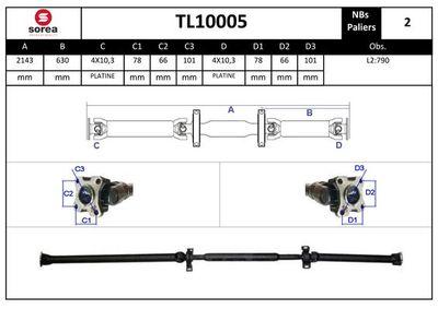 EAI Aandrijfas, asaandrijving (TL10005)