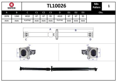 EAI Aandrijfas, asaandrijving (TL10026)
