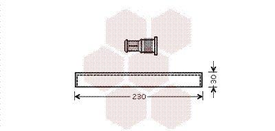 VAN WEZEL Droger, airconditioning (5100D074)