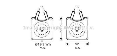 AVA QUALITY COOLING Oliekoeler, motorolie (VN3215)