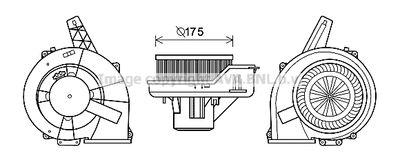 електромотор, вентилатор вътрешно пространство