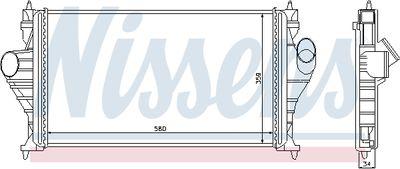 NISSENS Intercooler, inlaatluchtkoeler (96838)
