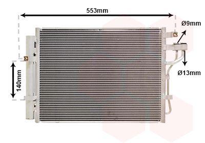 VAN WEZEL Condensor, airconditioning (83005188)
