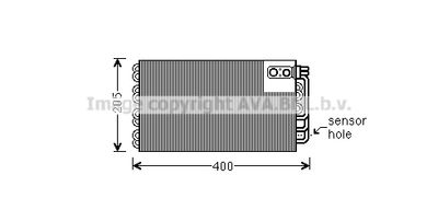 AVA QUALITY COOLING Verdamper, airconditioning (PEV346)