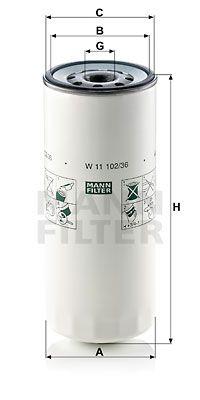 MANN-FILTER Oliefilter (W 11 102/36)