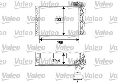 VALEO Verdamper, airconditioning (817093)