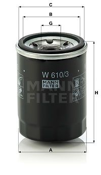 MANN-FILTER Oliefilter (W 610/3)