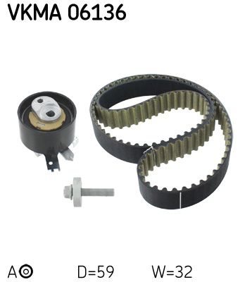 SKF Distributieriemset (VKMA 06136)