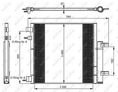 NRF Condensor, airconditioning EASY FIT (350048)