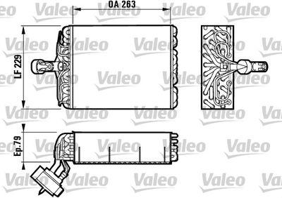 VALEO Verdamper, airconditioning (817080)