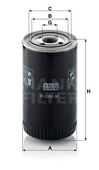 MANN-FILTER Oliefilter (W 950/18)