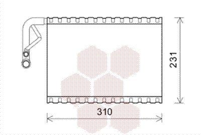 VAN WEZEL Verdamper, airconditioning (3000V544)