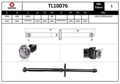 EAI Aandrijfas, asaandrijving (TL10076)