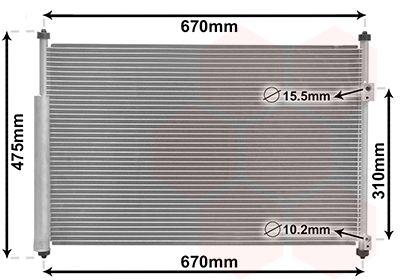 VAN WEZEL Condensor, airconditioning (52005108)