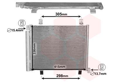 VAN WEZEL Condensor, airconditioning (58005327)
