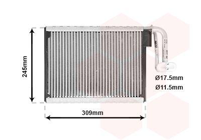 VAN WEZEL Verdamper, airconditioning (0600V402)