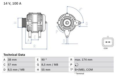BOSCH Dynamo / Alternator (0 986 083 200)