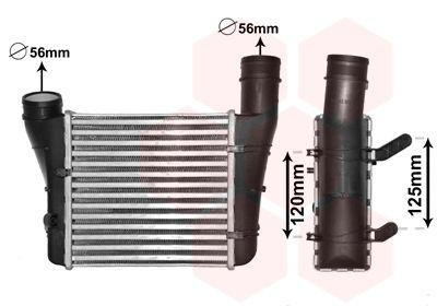 VAN WEZEL Intercooler, inlaatluchtkoeler (03004221)