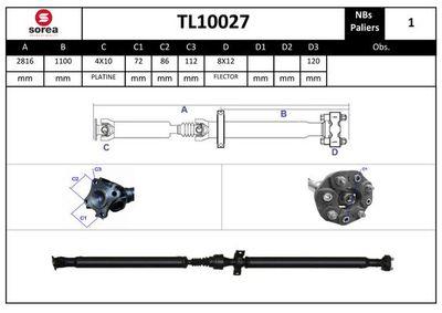 EAI Aandrijfas, asaandrijving (TL10027)