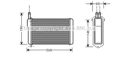 AVA QUALITY COOLING Kachelradiateur, interieurverwarming (LA6009)