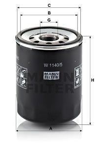 MANN-FILTER Oliefilter (W 1140/5)