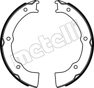 METELLI Remschoenset, parkeerrem (53-0500)