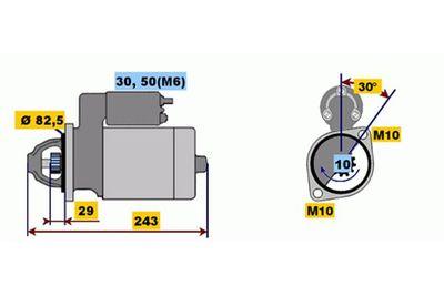 BOSCH Startmotor / Starter (0 001 109 036)