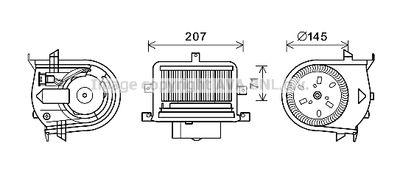 AVA QUALITY COOLING Elektrische motor, Interieurventilatie (VN8350)