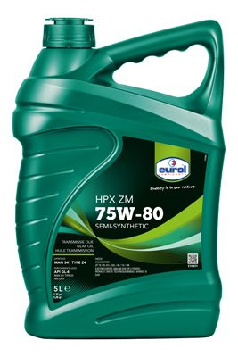 EUROL Versnellingsbakolie Eurol HPX ZM 75W-80 GL4 (E110071-5L)