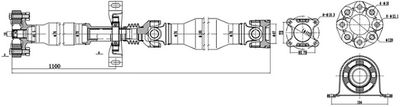 SERCORE Aandrijfas, asaandrijving (32108D)