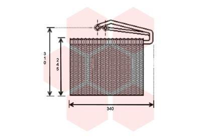 VAN WEZEL Verdamper, airconditioning (3700V400)