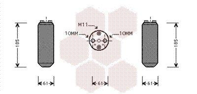 VAN WEZEL Droger, airconditioning (1300D187)