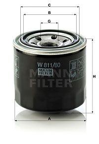MANN-FILTER Oliefilter (W 811/80)