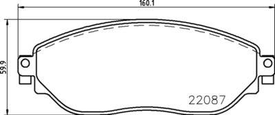 BREMBO Remblokkenset, schijfrem (P 59 082)