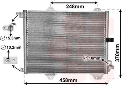 VAN WEZEL Condensor, airconditioning (52005088)