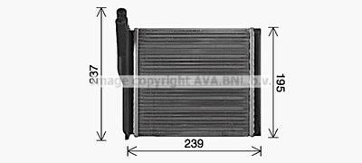 AVA QUALITY COOLING Kachelradiateur, interieurverwarming (LA6033)