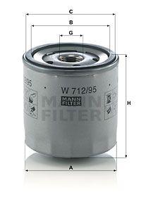 MANN-FILTER Oliefilter (W 712/95)