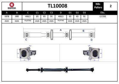 EAI Aandrijfas, asaandrijving (TL10008)