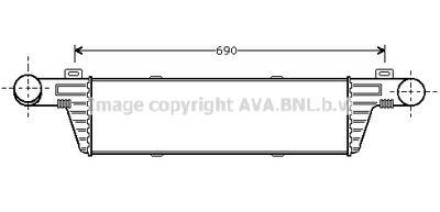AVA QUALITY COOLING Intercooler, inlaatluchtkoeler (MSA4224)