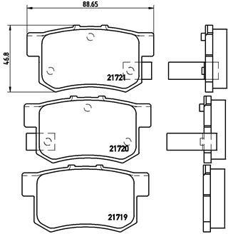 BREMBO Remblokkenset, schijfrem (P 28 022)